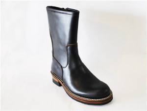 【High Line】ZIP ENGINEER BOOTS CHROMEXCEL BLACK GR-KE318B