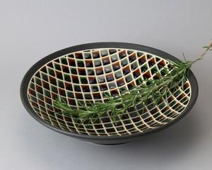 鉢 -市松2 直径約23cm | 白龍窯・憩庵