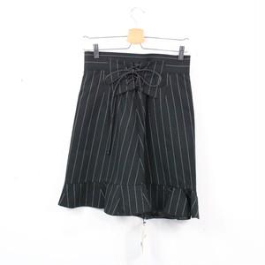Sacai / サカイ | 2015SS | レースアップデザイン ラップスカート | 1 | ブラック