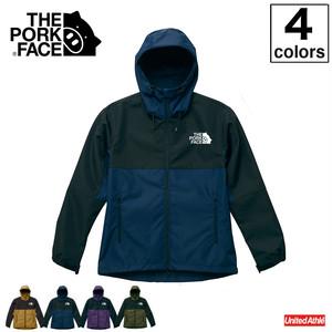 【S〜XL】THE PORK FACE スイッチングシェル パーカー(4カラー)