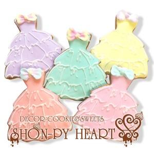 【期間限定セール290円】ふわふわドレスのアイシングクッキー SHONPY 結婚式プチギフト