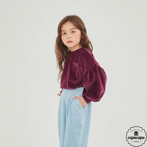 «sold out» velour puff sleeve 2colors ベロアパフスリーブトップス