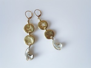 スターアンドムーンピアス vintage pierced earrings star and moon <PE-STMN1>