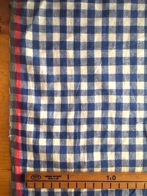 【NEW】Cotton ベンガル ブルー×ホワイト チェック