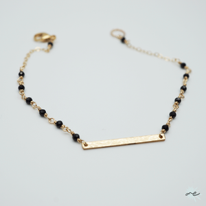 Black Spinel Bracelet/14KGF