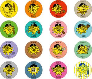 おっ!サン シークレット缶バッジ(全16種)