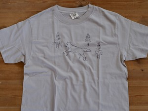 森のおおかみ君Tシャツ メンズMサイズ