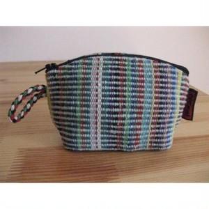 <フェアトレード>こぶりな ポーチ グリーン 手織り ネパール WSDO