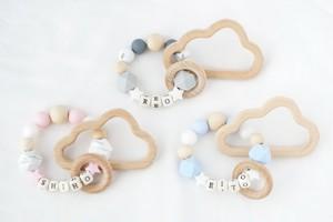 【歯固めリング】グレー・ブルー・ピンク | おしゃれな歯固めジュエリー linolino - 町田で ワークショップも開催中
