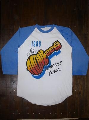 80's The Monkees(ザ・モンキーズ) 1986 Concert Tour 七分袖 Rock T-Shirts(ラグラン)