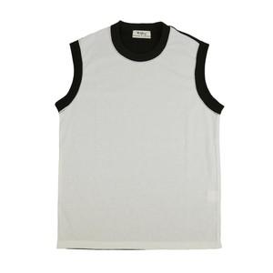 【OR GLORY】 ノースリーブ マッスル Tシャツ 〈Black × White〉