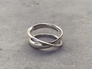 meian silver - double face ring