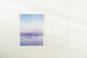 青い空と湖の、レターセット