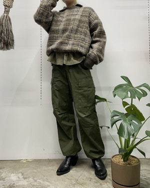 mix color knit sweater 【L位】