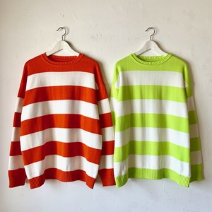 EZ DO by EACHTIME. | Neon Border Knit Crew