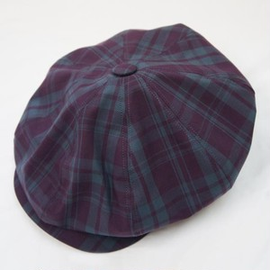 MADRAS CHECK 8PANEL BIG CASQUETTE  WINE×BLACK