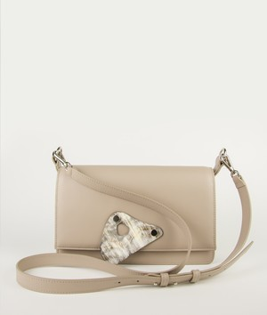 DODO CROSSBODY M  Greige with HORN