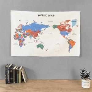 world map fabric poster 5types / 地図 ファブリックポスター
