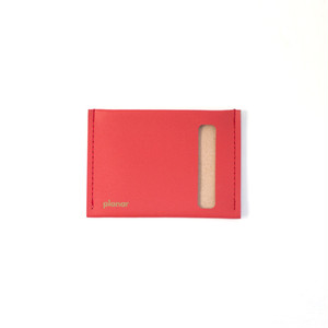 planar Card Case S -Red Plain-