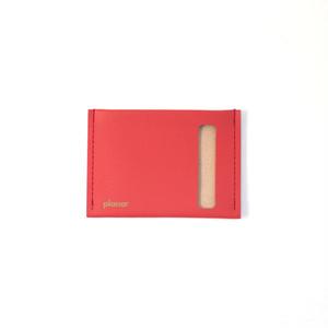planar Card Case S -Red Plain-