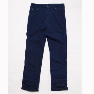 ※アウトレット品 WORK-ER 裾ギャザーパンツ ダークブルー ワンサイズ №60