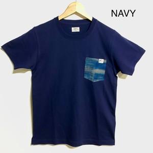 ポケットTシャツ「絣」