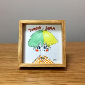 額入りイラスト 027(熱帯日本)