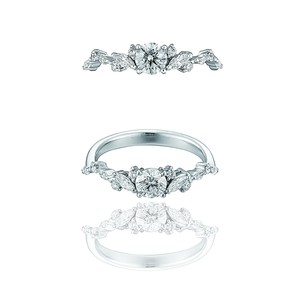 Tiara Ring / Pt900 3EX H&C Diamond