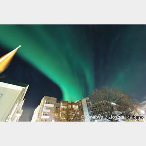 No.10-サイズM『above Reykjavik city #1』