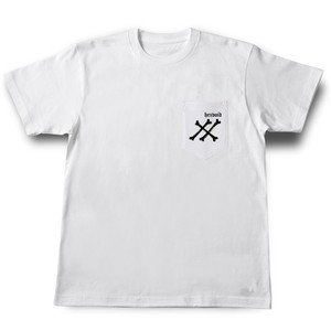 """BONE"" WHITE [POCKET S/S T-SHIRT]"