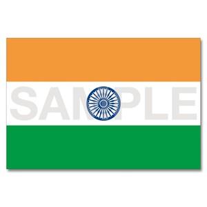 世界の国旗ポストカード <アジア> インド Flags of the world POST CARD <Asia> India