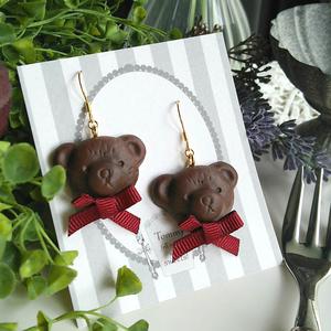 くまのチョコレートイヤリング/ピアス