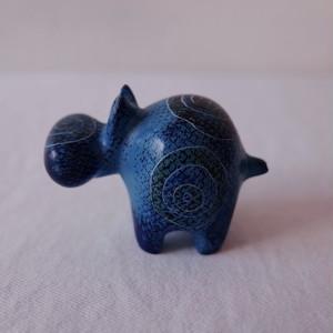 ハッピーヒポ ソープストーンアニマル (blue)
