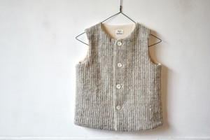 Gara-bou Kids vest(Brush Sand)/ Suno&Morrison