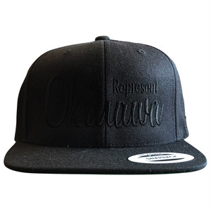 《限定カラー》REP OKI SNAPBACK CAP(BLACK OUT) / LIFEdsgn