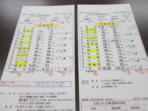 運転士携帯時刻表【ごめん・なはり線3仕業】*中古品* 平成26年3月15日施行分