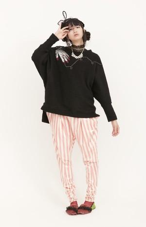guri / circus pullover / ハンドBLACK