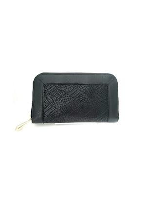 ■Geometric Long Wallet■ジオメトリックラウンド長財布(ブラック)