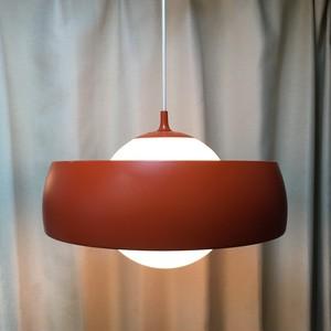 レトロなペンダント照明【オレンジ/ボール+シェード】(0221309160)
