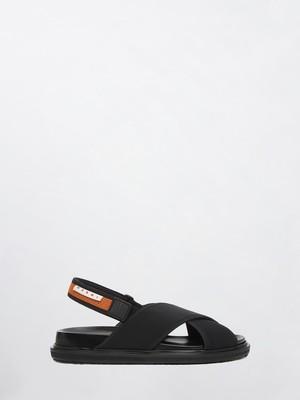 MARNI Fussbett Sandals Black+ Fluo Oranged FBMR001301