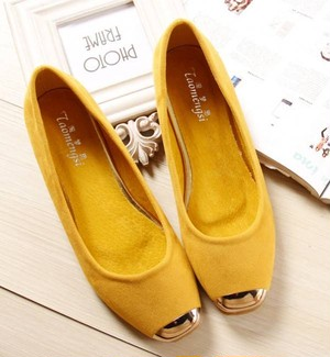 【shoes】Fashion design solid color flat shoes