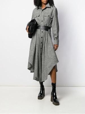 予約注文商品 ステラベルトシャツワンピース シャツワンピース ワンピース 韓国ファッション