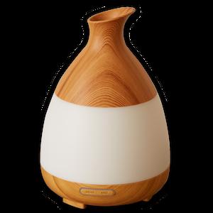 アロマディフューザー  Uruon(ウルオン) アロマライト 超音波式 木目調 7色グラデーション 空焚き防止機能搭載