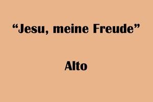 """アルト用 """"Jesu, meine Freude"""" BWV227 Karaoke for Alto"""