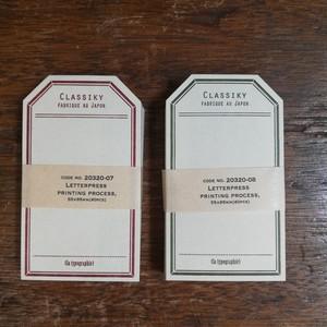 凸版印刷 ラベルカード