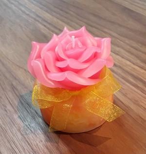 薔薇キャンドル(ピンク × 黄色・オレンジ)