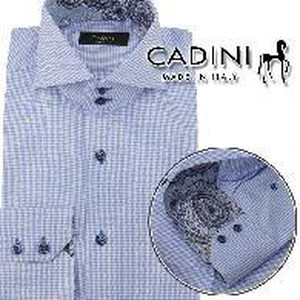 カディーニ CADINI メンズシャツ JOE 2B UB 351 2 504 ブルー系 brandサイズ(#38)