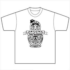 マトリョーシカTシャツ(白黒)