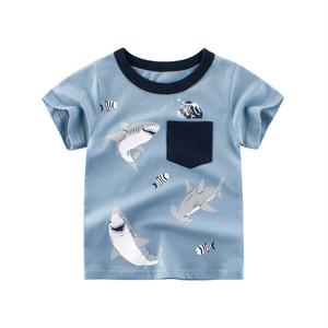 【トップス】超人気 プリント コットン ラウンドネック 半袖 子供服 男の子 Tシャツ・カットソー24835679