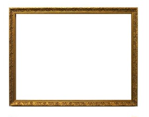 額縁アンティークおしゃれフレーム金1451額縁寸法太子(379mm×288mm) 窓枠寸法約365mm×274mm 2mmアクリル/裏板付/壁掛け用/箱付き 完品